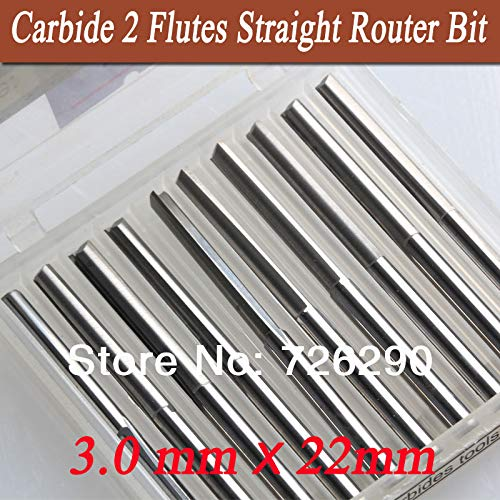 Tools & Accessories 10pcs 3.1753.022mm 2 Flute Straight Knife CNC Router Bits Cutters on Wood Carving Foam Plywood MDF PVC
