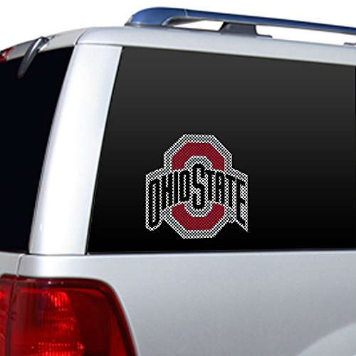 State Window Film - Fremont Die NCAA Ohio State Buckeyes Window Film Decal, One Size, Red