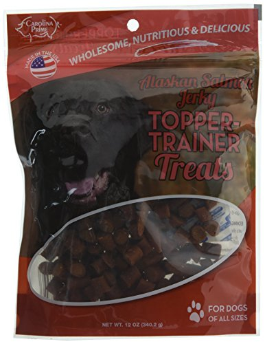- Carolina Prime Pet 45296 Salmon Topper Trainer Treat for Dogs (1 Pouch), One Size