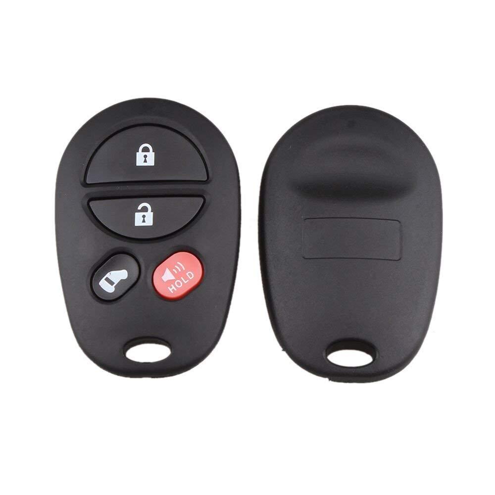 ECCPP Replacement fit for 2X Keyless Entry Remote Car Key Fob for Toyota Avalon Highlander Sequoia Sienna Solara Tacoma Tundra GQ43VT20T BHBU0503A1933