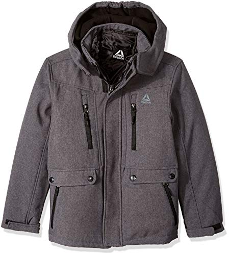 Reebok Boys Active Systems Jacket with Zip Pockets, Charcoal 18/20