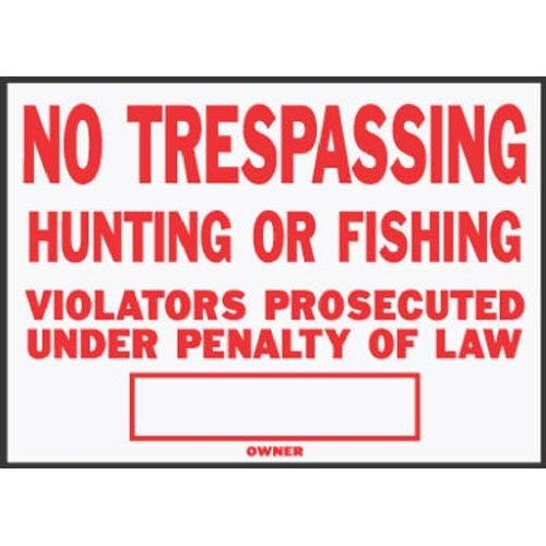 Hy-Ko SS-5 10'' x 14'' Aluminum No Trespassing Sign by Hy-Ko Products (Image #1)