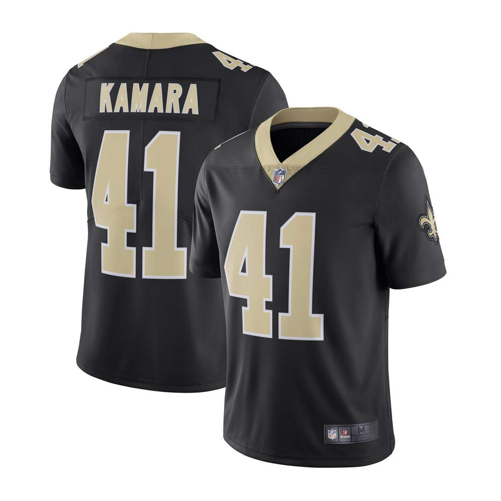 Mitchell & Ness New Orleans Saints #41 Alvin Kamara Limited Men's Black Home Jersey by Mitchell & Ness
