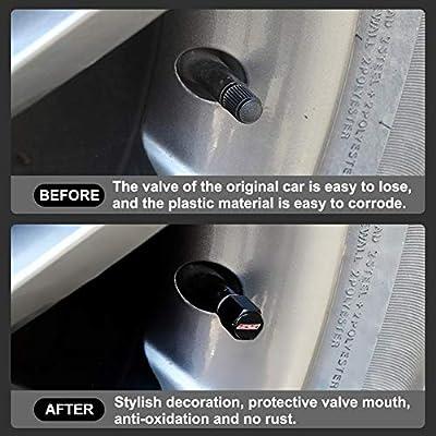 BWONE Camaro SS Tire Stem Valve Caps(4PCS) with Wrench Keychain(1PCS): Automotive