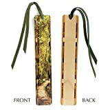 Best Mitercraft Hikes In Usas - Wooden Bookmark with Green Suede Tassel and Color Review