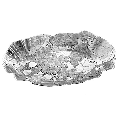 Autumn Baroque Oval Tray, Small, Silver, Handmande in the USA by Wendell August Forge -