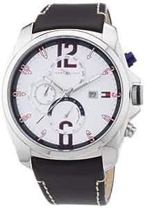 Tommy Hilfiger 1790834 - Reloj analógico de cuarzo para hombre con correa de piel, color marrón