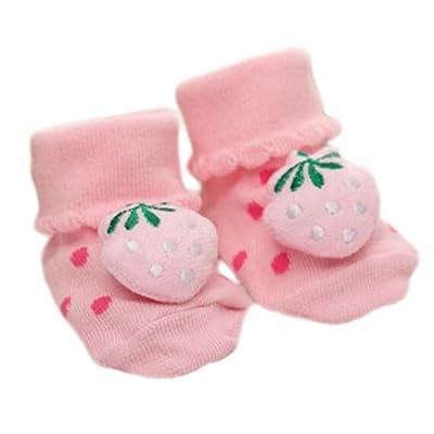 3 paires Non-slip Nouveau-né Bébé Tout-petit Chaussettes Confortable Chaud Non-skid Stockings Bébé Anniversaire Cadeau Pour 6-12 mois-A03