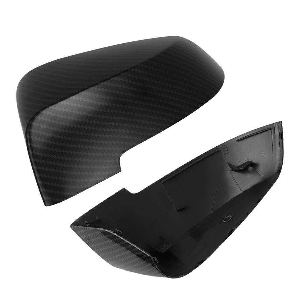 Qiilu Car Rearview Mirror Cover,Carbon Fiber Style L//R Door Wing Protector Fits for F10 F11 F18 2014-2016