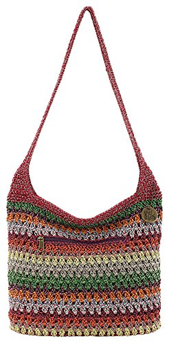 - THE SAK Riveria Bohemian Hobo Handbag One Size Bohemian red multi