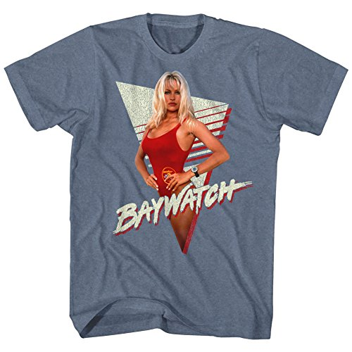 Adults Baywatch Pamela Anderson Triangle T-shirt, S to XXL
