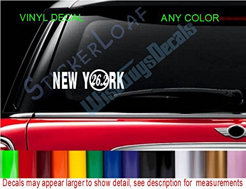 StickerLoaf Brand Runner 26.2 NEW YORK Marathon race runners decal decals RUNNING car window sticker ()