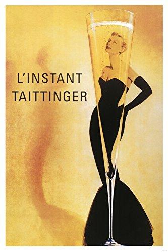 (24x36) L'Instant Taittinger (Grace Kelly Champagne Ad) Art Poster ()