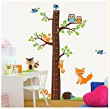 Chris.W 1Pc PVC Cartoon Height Chart Removable Decal Art Murals Wall Stickers For Home Living Room/Bedroom/Study/Kindergarten/School/Baby Kids Rooms Decor(Squirrel) offers