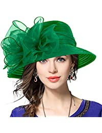 Lady Derby Dress Church Cloche Hat Bow Bucket Wedding Bowler Hats b0cffb8a9b1f