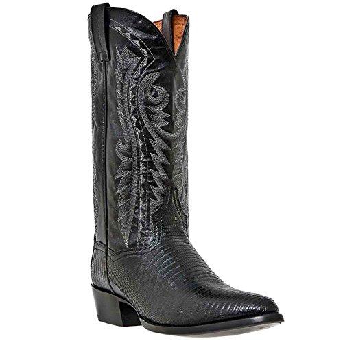 Dan Post Men's Lizard Boot,Black,9 D US/M (Lizard Skin Cowboy Boots)