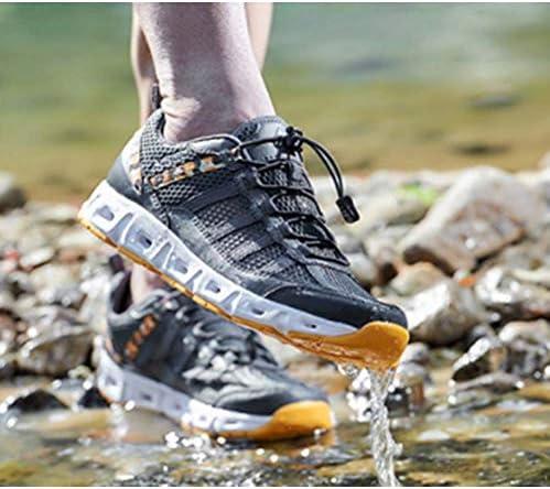カップルのアウトドアハイキングシューズ三次元中空通気性着用快適なウォーキングシューズ、夏の水陸両用光低低多孔性上流靴スポーツカジュアルシューズ ポータブル (色 : Gray, Size : US7.5)