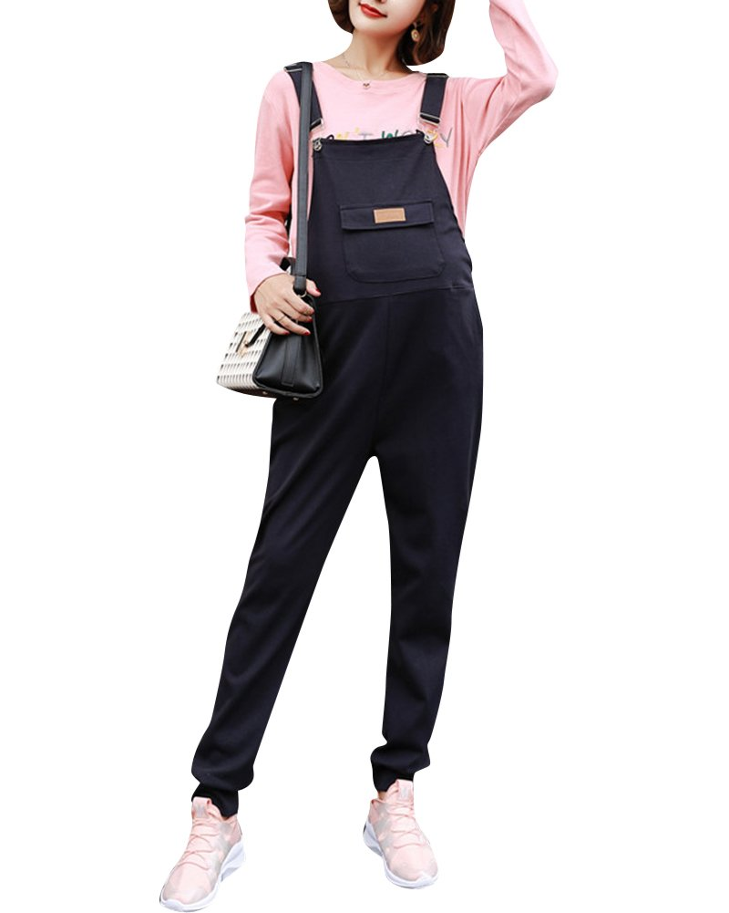 Women's Maternity Pregnant Casual Dungarees Jersey Long Harem Overalls Trousers Jumpsuits