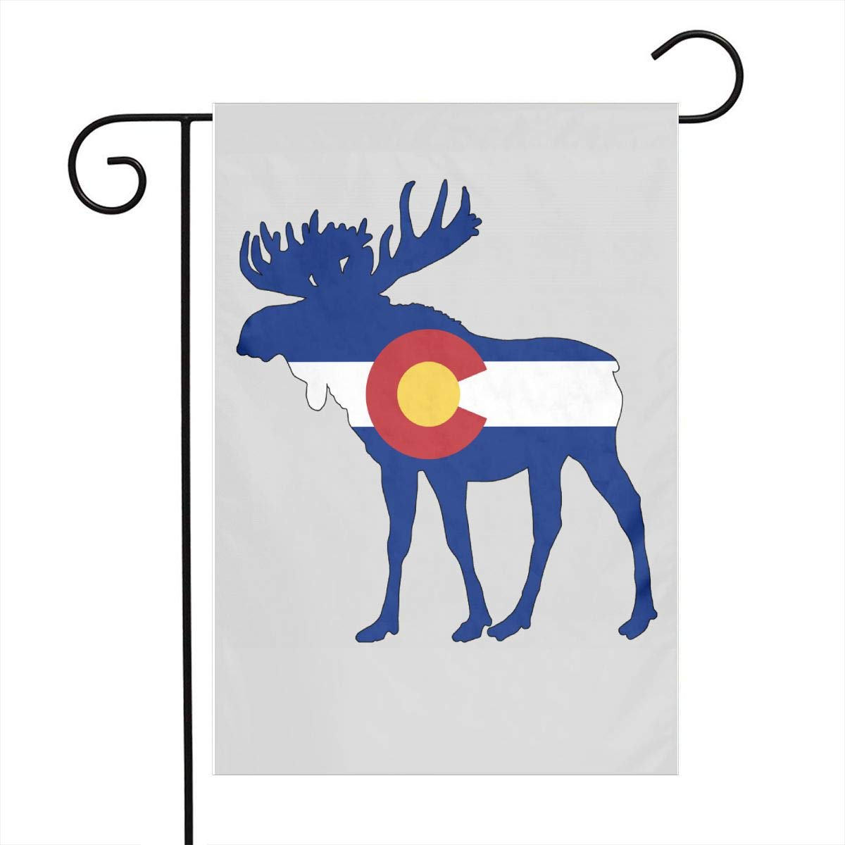 ZZATAA Colorado Flag Moose Garden Flag Decoration Banner Decorative Sweet Home Yard Festival Outdoor 12X18inch