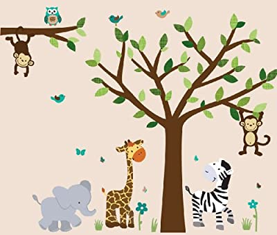 Baby Nursery / Kid Room Wall Decals (Monkey, Owl, Tree, etc designs to choose from) by Nursery Decals and More, Inc.