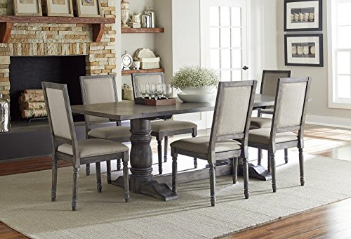 Muses Rectangular Dining Table in Dove Grey