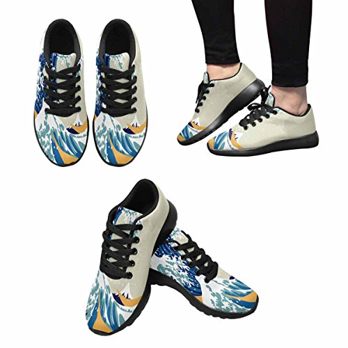 InterestPrint Womens Jogging Running Sneaker Lightweight Go Easy Walking Comfort Sports Running Shoes Multi 3 spbP6