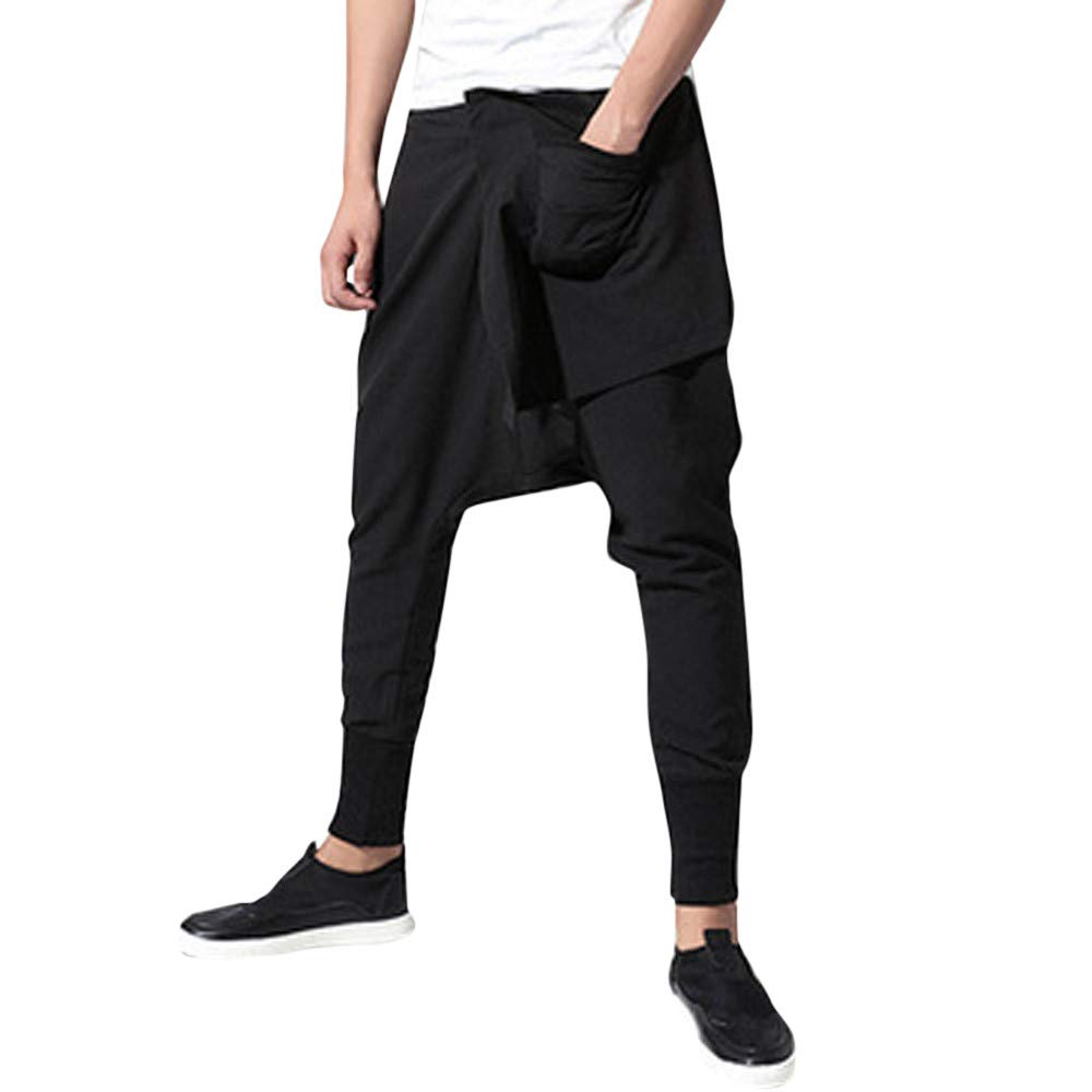 Pantalones Largos para Hombre,Hombres Moda oto/ño Joggings Patchwork Casual Lazo pantal/ón Pantalones de Trabajo