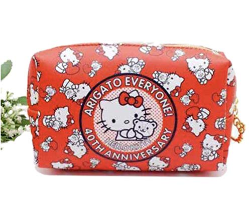 Hello Kitty Makeup Bag, Cosmetic Bag for Travel, Brushes, and Accessories, Great for Holiday and Christmas Gifts -