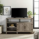 WE Furniture W58BDHBGW Tall TV Stand 58' Grey Wash