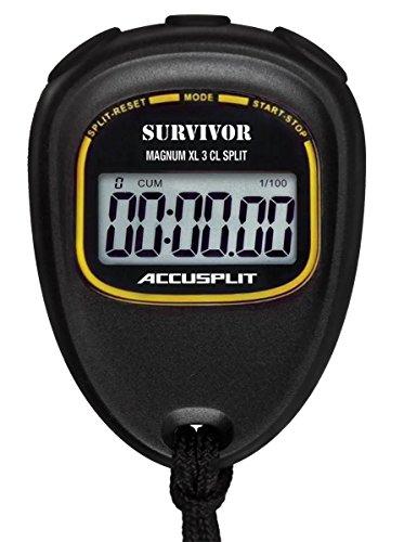 - ACCUSPLIT Survivor  S3CL CUMULATIVE-LAP SPLIT Stopwatch with Magnum Display