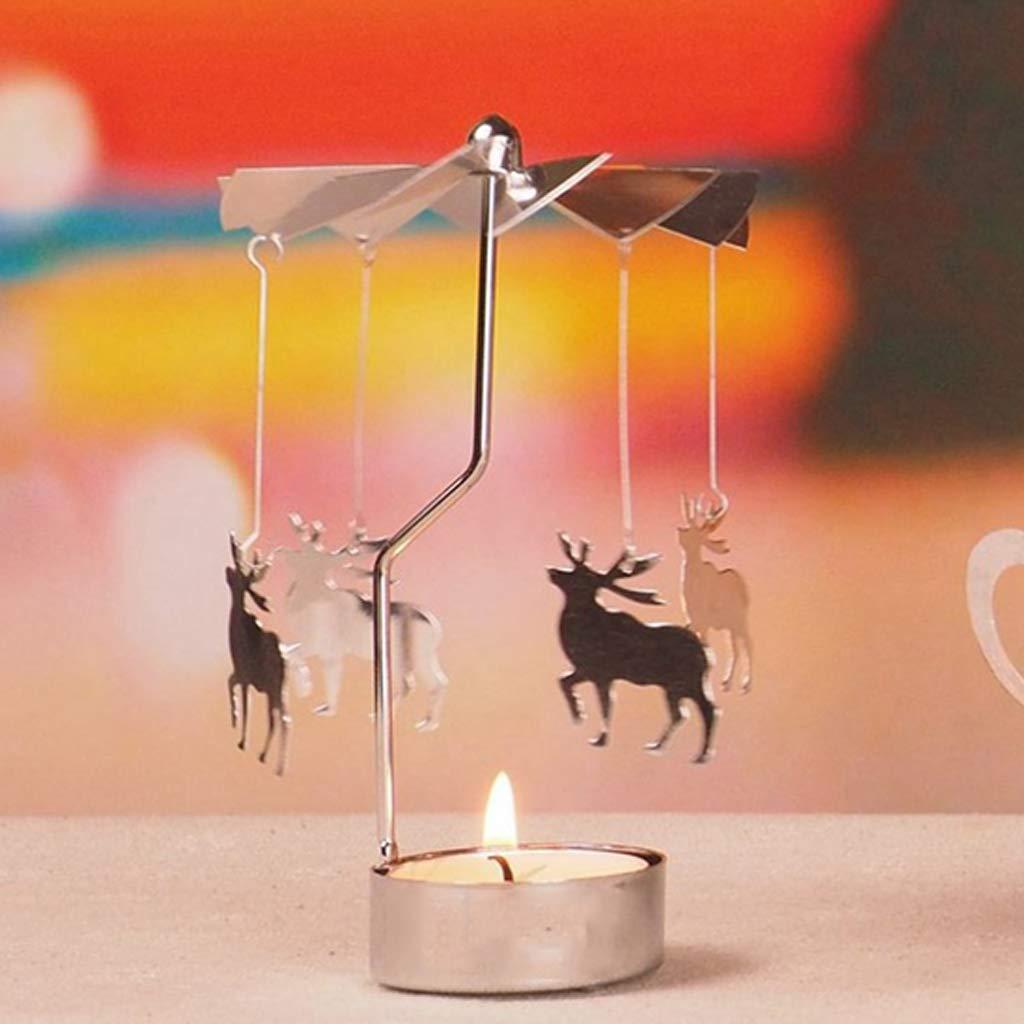 01 JENOR Photophore en m/étal pour Bougie Chauffe-Plat Motif carrousel Home Decor