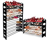 Marketworldcup - Shoe Rack for 50 Pair Wall Bench Shelf Closet Organizer Storage Box Stand Stainless Steel