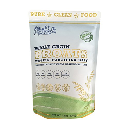 JOHN'S KILLER PROTEIN™ PROATS – PROTEIN FORTIFIED ORGANIC OATS®. Our mighty PROATS have twice the protein of other organic oats. Made with our organic whole grain baby (Sun Care Oat Protein)