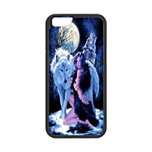 High Quality Phone Case For Apple Iphone 6 Plus 5.5 inch screen Cases -Wolf And Moon Pattern-LiuWeiTing Store Case 17