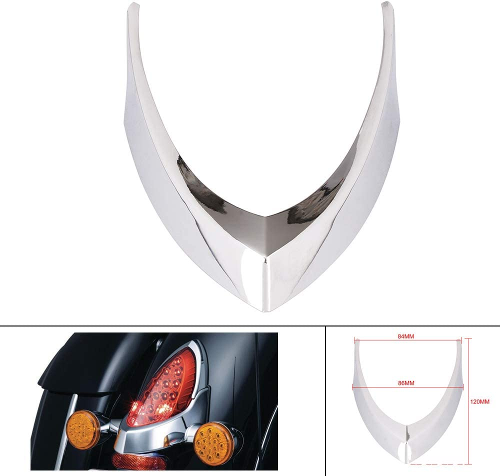 AnXin Motorcycle Tail Light Rear Tail Lamp Top Trim Cover Vintage For Indian Chief Chieftain Roadmaster Tail Light Cap 14-18