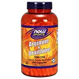 NOW Sports L-Arginine & Ornithine 500/250 mg,250 Capsules For Sale