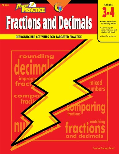 Power Practice Fractions and Decimals, Gr. 3-4