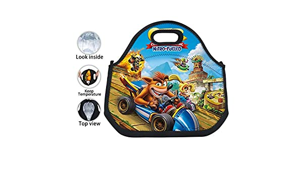 Kart Crash Team Racing - Bolsa térmica para el almuerzo ...