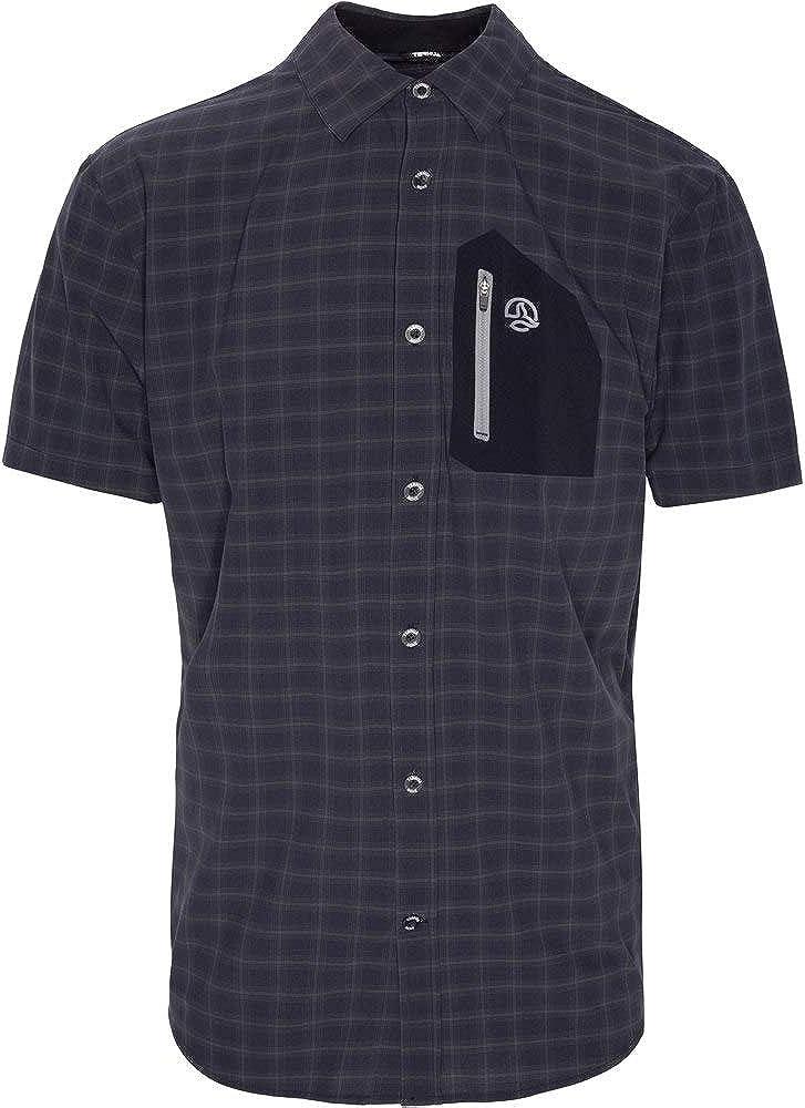 Ternua ® Camisa MC ATHY Shirt Hombre - Color Negro/Cuadros Negros (l): Amazon.es: Ropa y accesorios