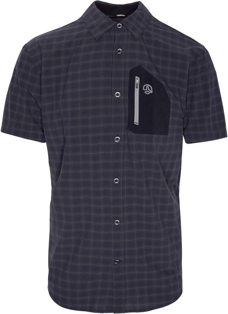 Ternua ® Camisa MC ATHY Shirt Hombre - Color Negro/Cuadros Negros (XL): Amazon.es: Ropa y accesorios