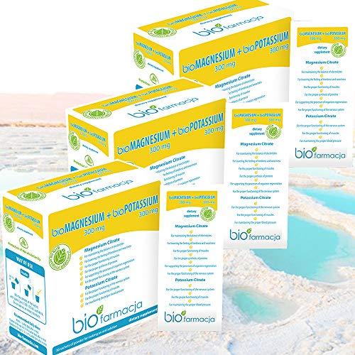 Natural Magnesium Citrate + Potassium Citrate from Dead Sea | Magnesium Powder 300 mg + Potassium Powder 300 mg | No GMO…