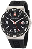 Swiss Military Calibre Men's 06-4R1-04-007 Racer Black Dial Black Rubber Watch