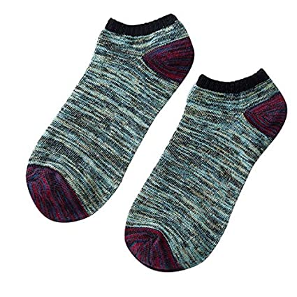 Lannmart Mens Cotton Warm Socks Crew Ankle Low Cut Casual Cotton Breathable Christmas Socks meias
