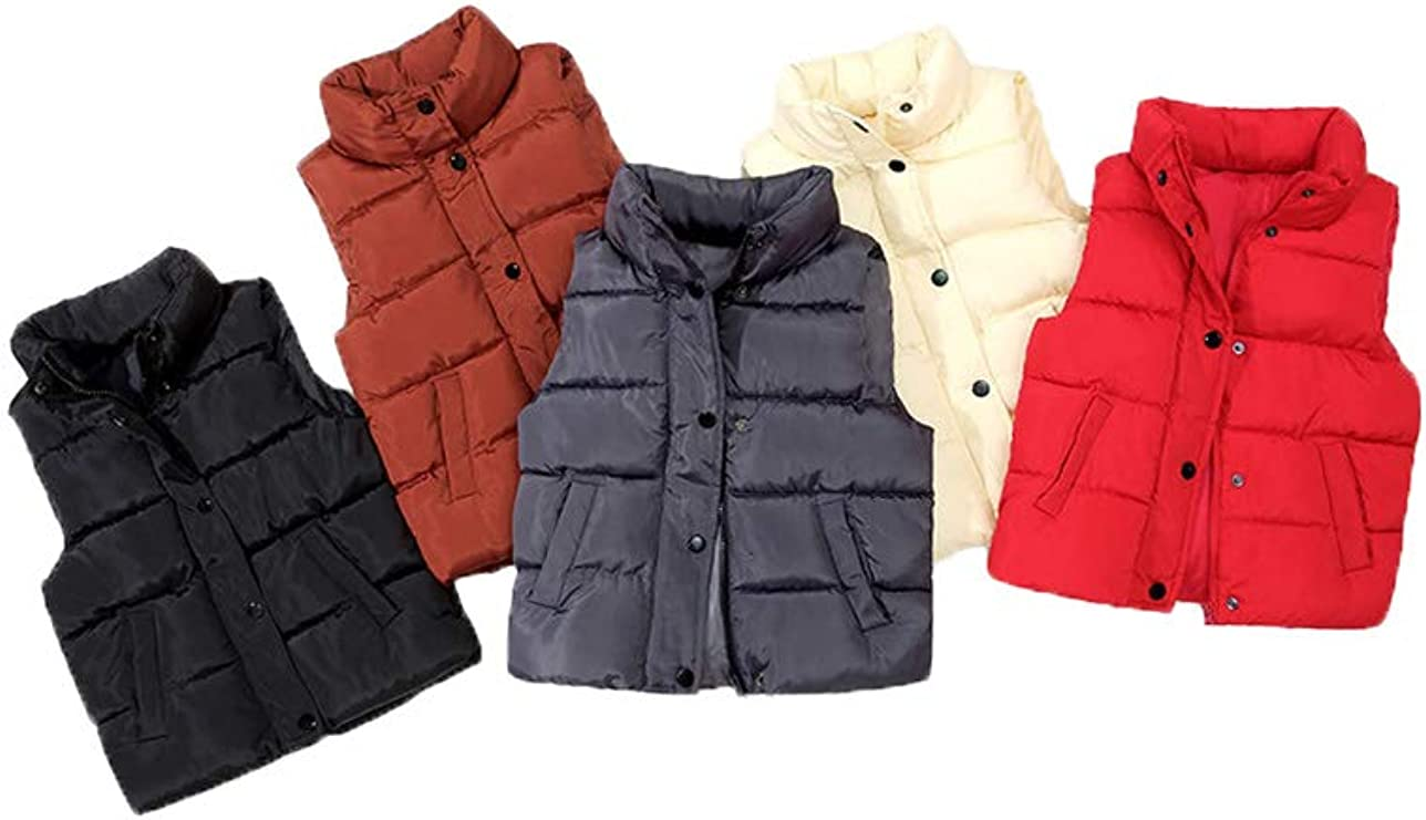 Mallimoda Boys Girls Lightweight Down Vest Puffer Jacket High Neck Waistcoat