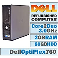 Dell OptiPlex /Core 2 Duo E8400 @ 3.00 GHz/ New 2GB DDR2 / 80GB HDD/DVD-RW/WINDOWS 7 PRO 64 BIT-(Certified Reconditioned). (Certified Refurbished)
