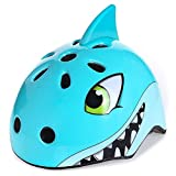 shuangjishan Awesome Boys/Girls Shark Safety Helmet Children Multi-Sport Helmet for Skateboard Cycling Skate Scooter Roller(48-52cm)