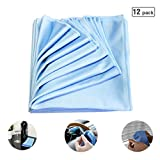 Denali USA Auto Seekin 45 280GSM microfiber low pile towel for glass, clean window, car mirror and chrome, Blue color (12PCS)