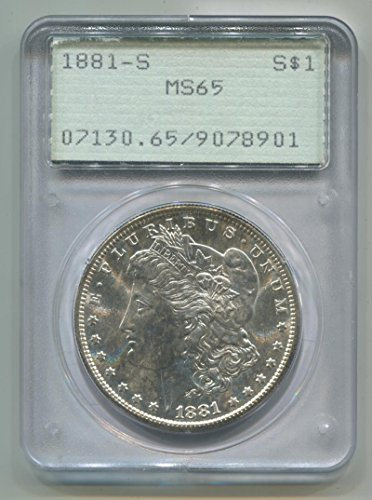 1881 S Morgan Dollar Dollar MS65 PCGS