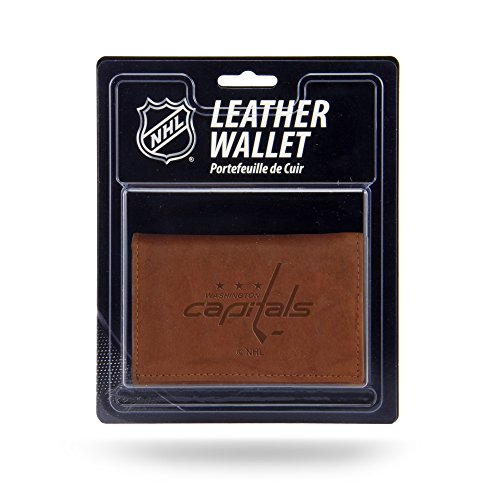 Rico Industries NHL Washington Capitals Leather Trifold Wallet with Man Made Interior - Nhl Washington Capitals Leather