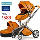 Baby Stroller 2018, Hot Mom Baby Carriage with Bassinet Combo,Brown,Baby Bid Gift For Sale